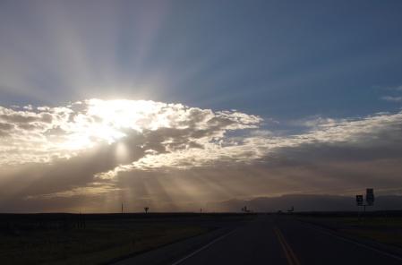 Texas at sunset