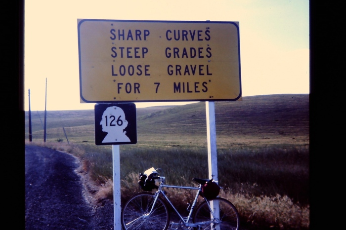 Eastern Washington.  Solo ride from Seattle to Indiana, 1975