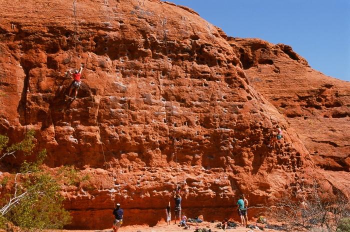 Rock Climbers near Chuckwalla Trail Head, St. George Utah