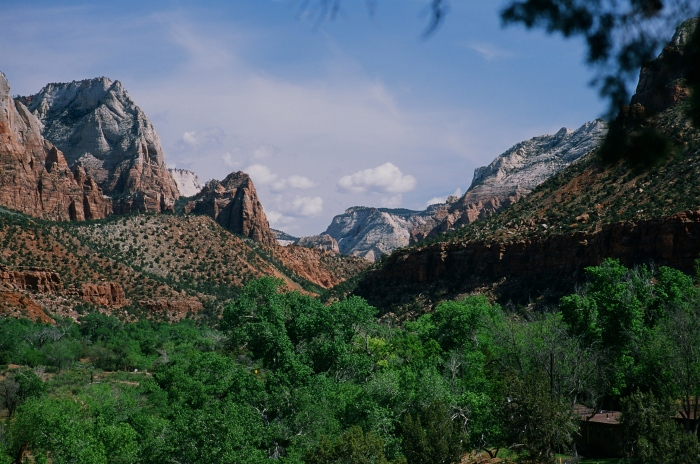 A view from the top of Watchman's Trail, Zion National Park, Springdale, Utah