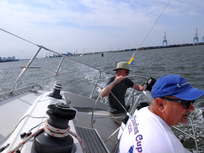 Capt'n Chris and Mark in racing mode
