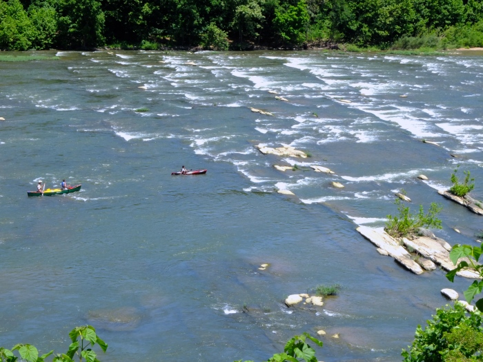 The Shenandoah River rapids