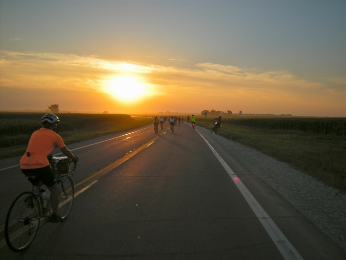 Another early morning on RAGBRAI - Iowa
