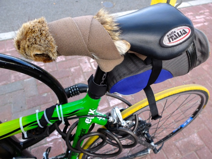 A resourceful Canadian cyclist