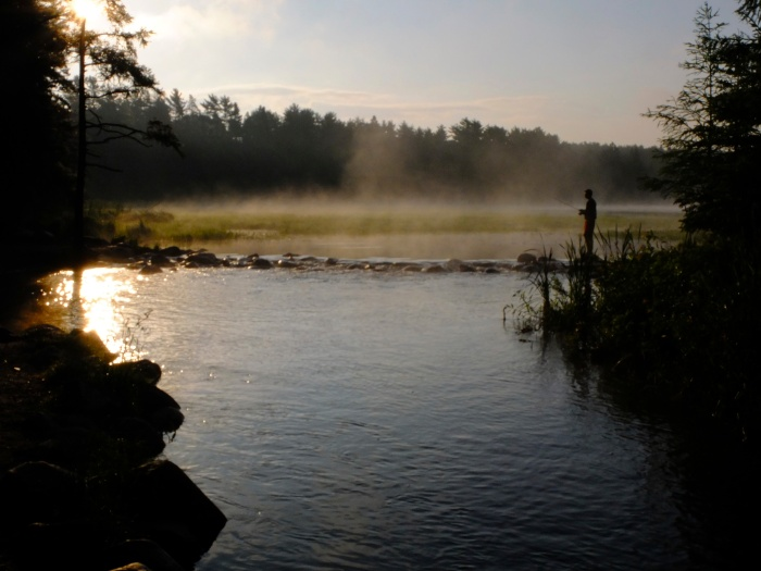 A fisherman on Lake Itasca - Minnesota