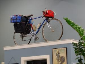 Ian Hibell's bicycle that he used to cross the Sahara