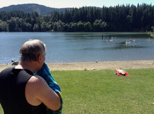 A summer swim Lake Padden, Bellingham Washington