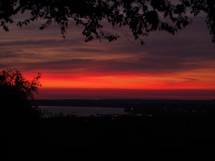 Sunset in Bellingham Washington