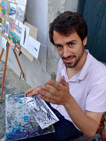 Lisbon street artist and recent art school graduate.